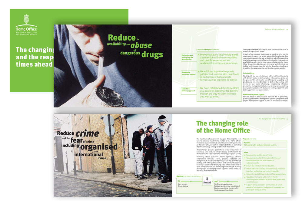 Home Office: Brochure discussing the problem of drug addiction and the Home Office's plans to tackle the issue.