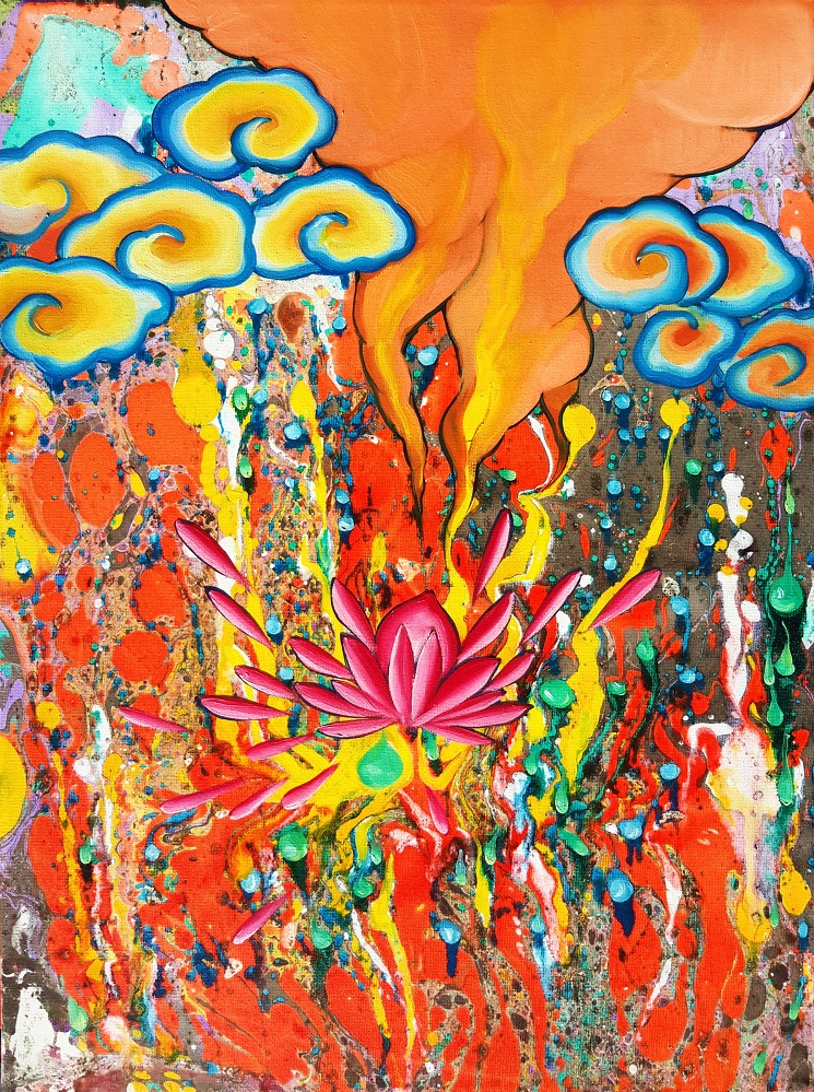 Ju Yun_Burning Lotus_18x24_2014_Oil_JPEG