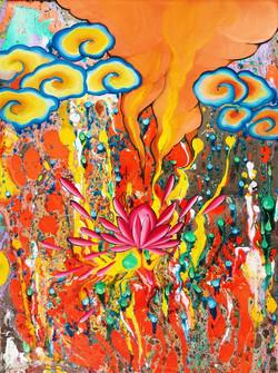 Ju Yun_Burning Lotus_18x24_2014_Oil_JPEG