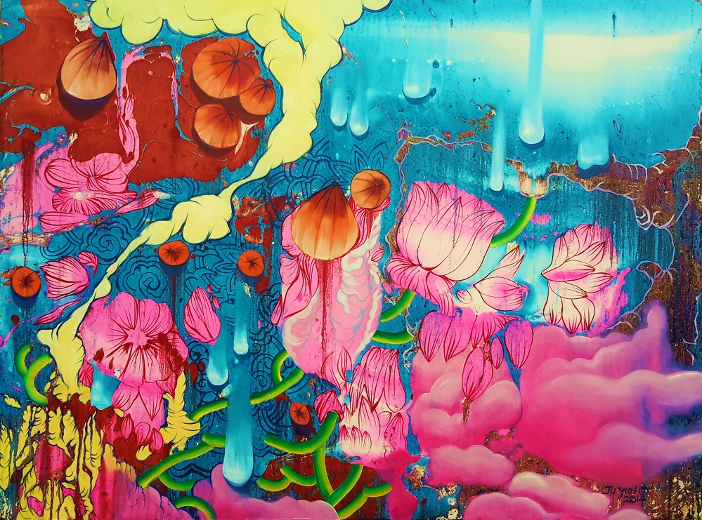 Ju Yun_Birth of Nature_36x48_2015_Oil_JPEG