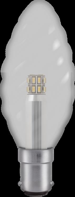 LED 35mm Twisted Candle