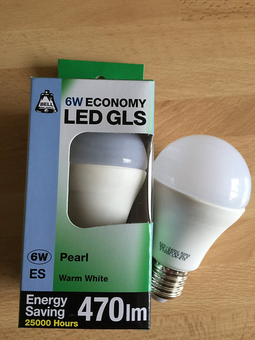 Pack of 3 - BELL 6W ES LED GLS Warm White