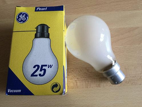 Pack of 10 - GE 25W BC GLS Pearl