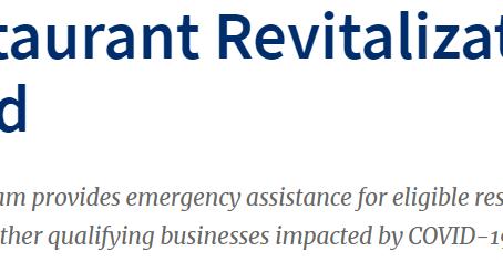 Restaurant Revitalization Fund (RRF: レストラン活性化基金)の情報更新