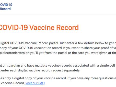 CA州のワクチン接種記録ポータル