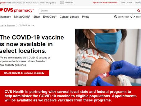 CVSでワクチン接種開始