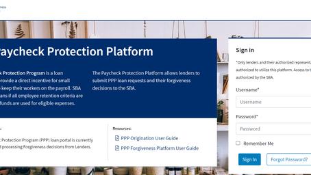 SBAのPaycheck Protection Platform