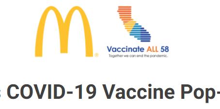 マクドナルドでワクチン接種