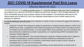 CA州COVID-19 Supplemental Paid Sick Leaveは本日で打ち切り