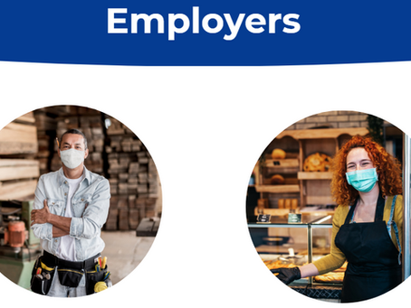 CA州のCOVID-19 Employer Portalウェブサイト