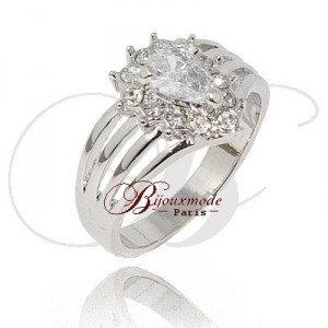Bague Rodhie diamant forme poire