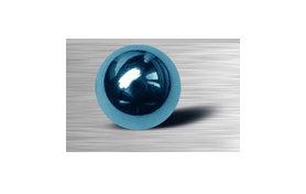 Boules  acier anodise bleu 1.2 x 2 mm