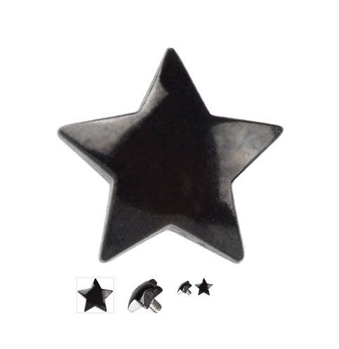 Accessoire piercing de surface étoile titane black