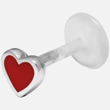 Labret coeur rouge pour labret ou oreille