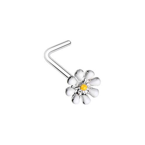 Piercing nez fleur acier