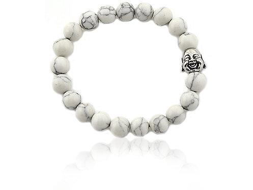 Bracelet Bouddha perle Howlite