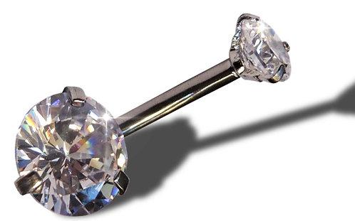 Piercing nombril double zircon Diamant