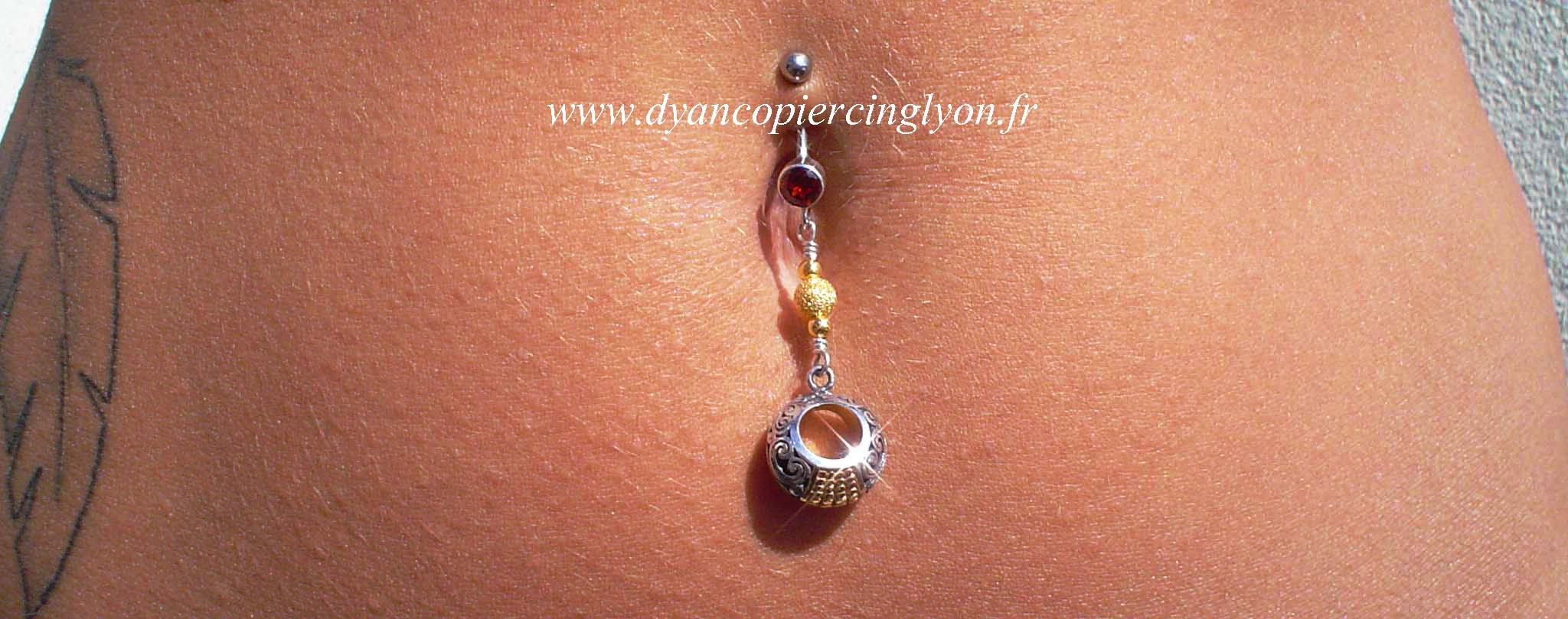 Dangle GOLD N SILVER Bali Belly