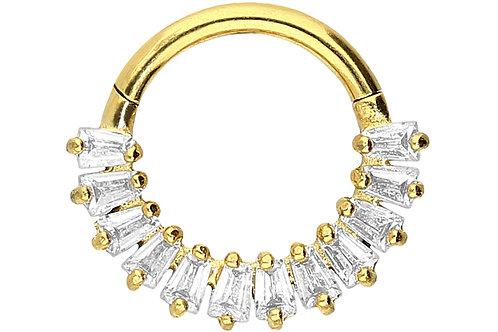Anneau septum et hélix 12 cristaux