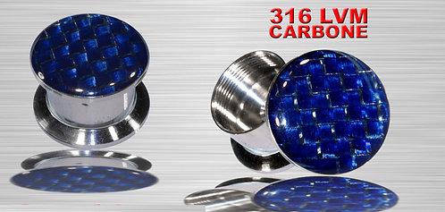 Plug bleu en carbone tressé 6 et 8 mm