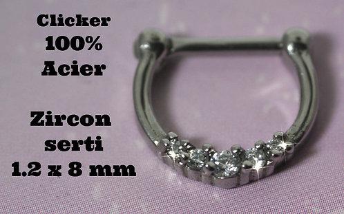 Septum - Helix - Daith acier 316l cristal