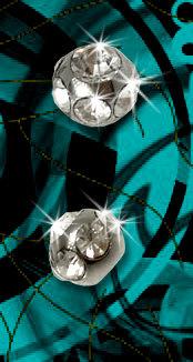 Boules acier multi strass 1.2x3 mm