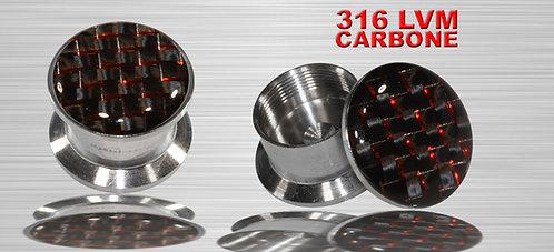 Plug rouge en carbone tressé 6 et 8 mm