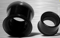 Tunnel acrylique noir 6 et 8 mm