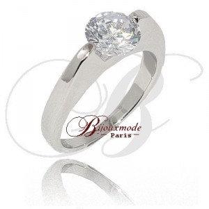 Bague rhodie fine Diamant