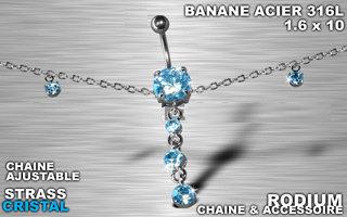 piercing nombril chaîne tour de taille