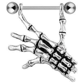 Piercing teton squelette