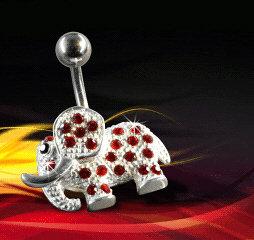 Nombril elephant rouge