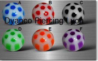 Boules  acryliques points