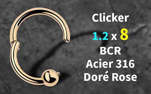 Anneau BCR clicker or rose