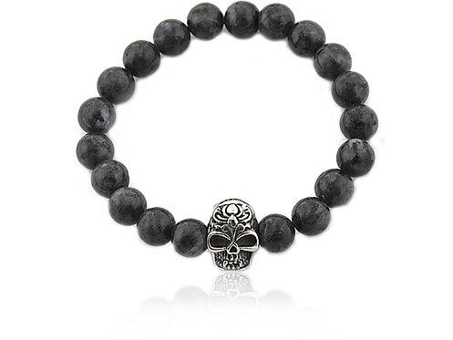 Bracelet Skull perle Hematite