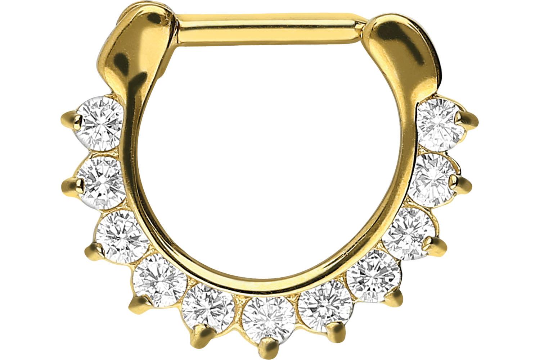 Anneau septum et hélix 11 cristaux