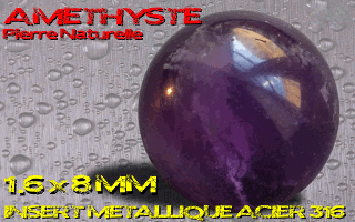 Pierre naturelle Amethyste