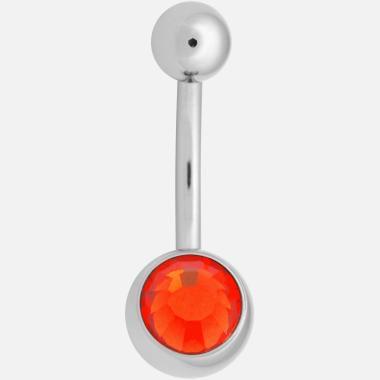 Nombril implantanium orange