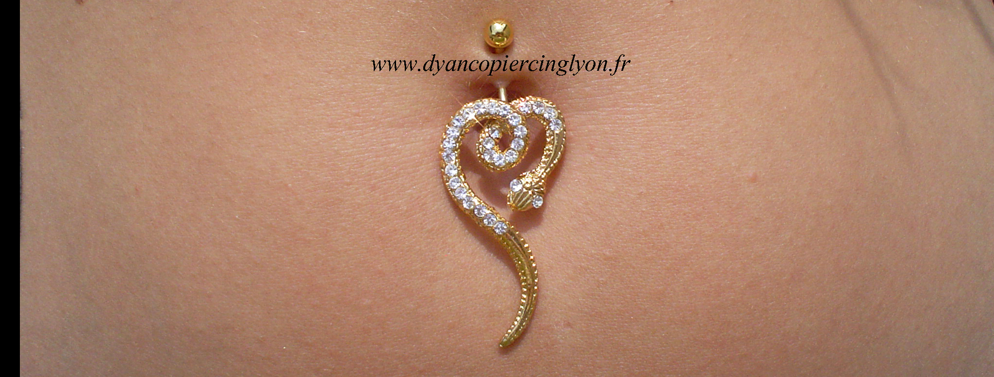 Piercing_nombril_serpent_anodisé_or