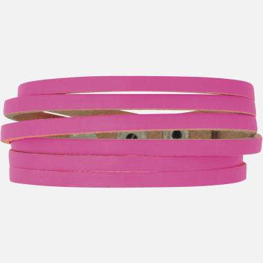 Bracelet cuir big coupes rose CR05
