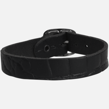 Bracelet cuir single rock noir CR06