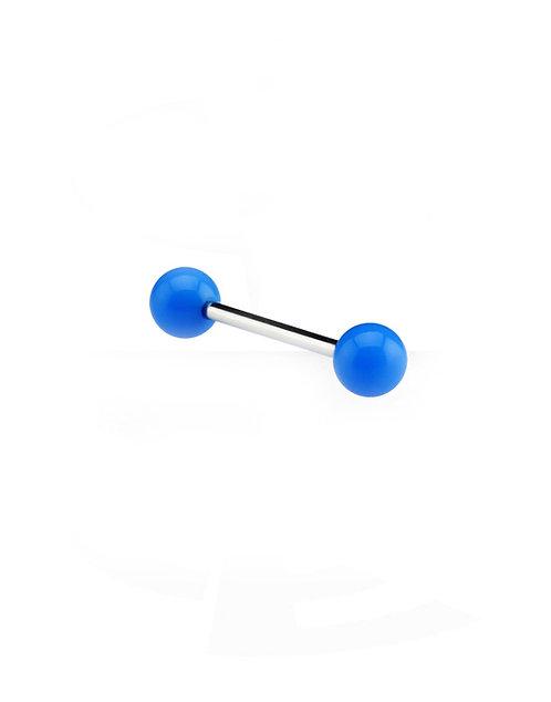Langue avec neon boules bleu
