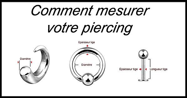Comment musurer votre piercing