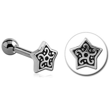Piercing Tragus - Helix étoile