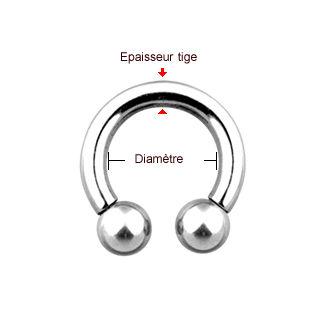 Mesurer le diamètre de son piercing fer à cheval ou semi circulaire