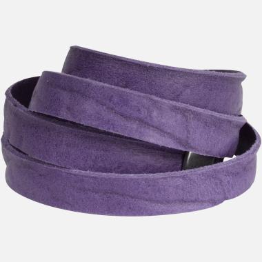 Bracelet en cuir violet Le Big Wrap