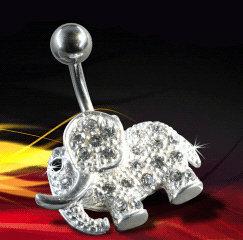 Nombril elephant diamant