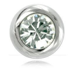 Boules acier avec strass cristal