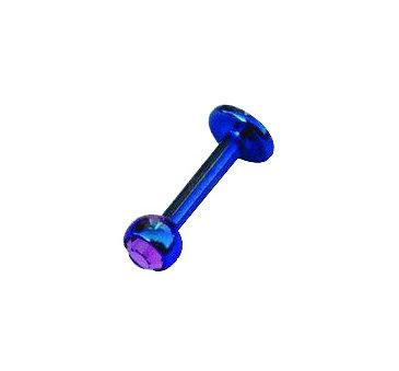 Labret boule cristal 055