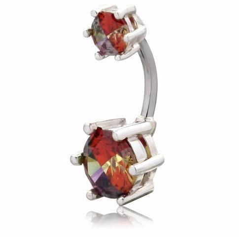 Vente piercing nombril pierre rouge